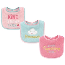 Luvable Friends 3-Pack Drooler Bib Dreamer Pink