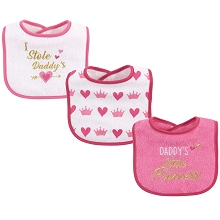 Luvable Friends 3-Pack Drooler Bib Girl-Daddy