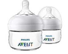 Avent Natural Baby Bottle Clear 2 oz, 2 Pack