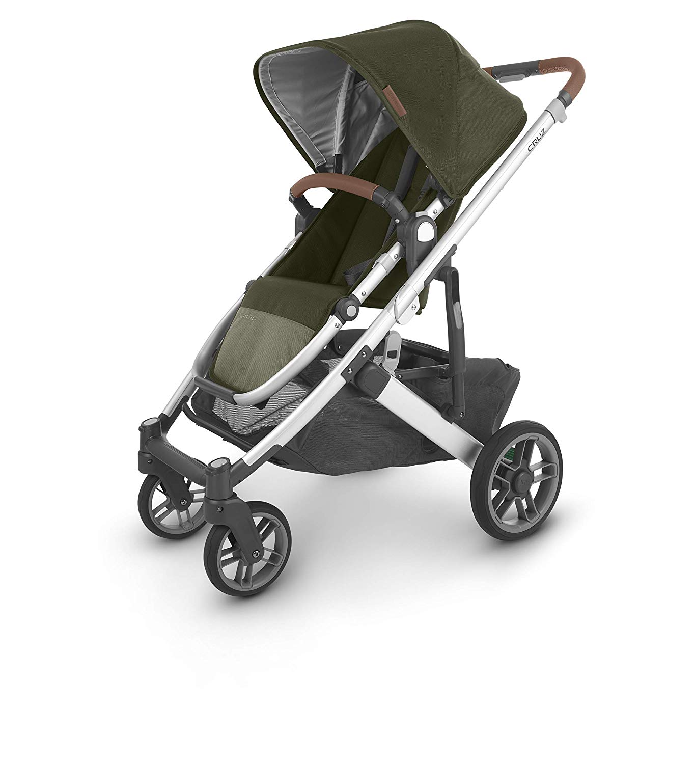 Uppababy Cruz V2 Stroller Hazel (Olive/Silver/Saddle Leather)