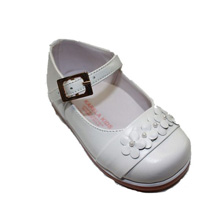 Karela Kids Dress Leather Shoes Girl White