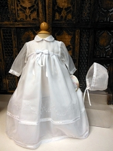 Willbeth Long Sleeve Christening Dress With Bonnet