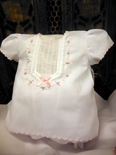 Will'beth Baby Dress Set White Pink One Size, Newborn to 3 Months