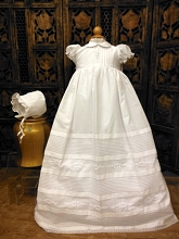 Will'beth Pleated Christening Gown