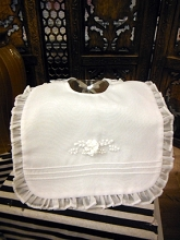 Will'beth Christening Bib White