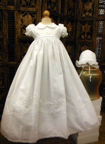 Will Beth Smocked Christening Gown With Bonnet