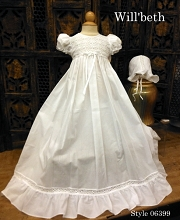 Will'beth Christening Lace Gown with Bonnet