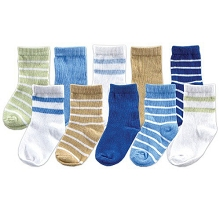 Luvable Friends  10 Pair Socks Gift Set