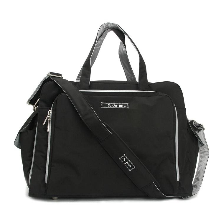 Ju Be Classic Prepared Diaper Bag Black Silver