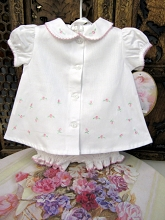 Will'beth Tulip Baby Set 2 Pieces, White-Pink