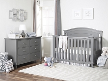 Sorelle Glendale Furniture Set, Crib, 4dr Dresser, Double Dresser