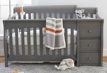 Sorelle Furniture Princeton Elite Crib N Changer Weathered Gray