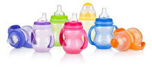Luv n Care Nuby 3 Stage Wide Neck Bottle with Handles 8oz Assortment