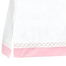 Just Born Dream Crib Skirt White-Pink