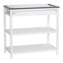 Suitebebe Brooklyn Island Changing Table White-Gray