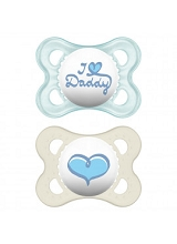 MAM 2 Pack Pacifier Love & Affection,0-6 Months