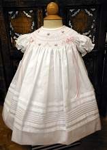 Willbeth Sweet White Pink Bishop Dress