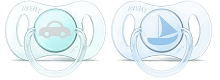Avent Newborn Pacifier, 0-2 months, Blue-Green, 2 Pack