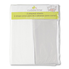 Cuddle Time 2 Pack Playard Sheet White