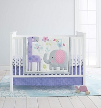 Cuddle Time Sweet Safari Bedding Crib Set 3-Pieces
