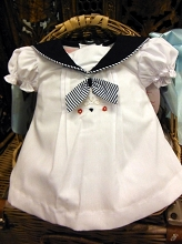 Willbeth Nautical Baby Dress White-Navy