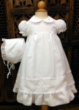 Will'beth Dress with Bonnet White-3 Months