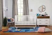 Babyletto Eero Furniture Set in White Natural-Walnut