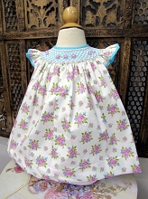 Willbeth Bishop Dress Lilac Aqua Flower Print