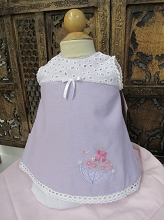 Willbeth Dress 2 Pieces Lavender Parasol Pink Flower