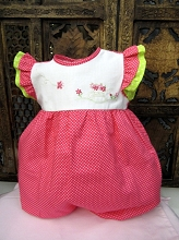 Willbeth Bubble Romper Candy Pink Polka Dot