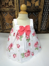 Willbeth Bow Dress Print Flower Pink