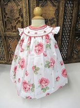 Willbeth Smocked Dress Print Rose