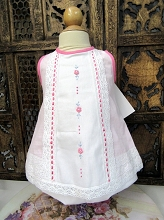 Willbeth Gingham Dress White-Pink