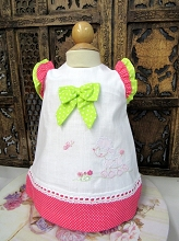 Willbeth Polka Dot Dress Candy Pink and Lime