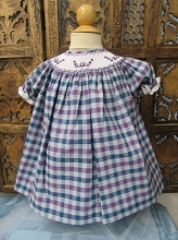 Willbeth Smocked Plaid Dress, Purple