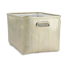 Lambs & Ivy Gold Storage Container