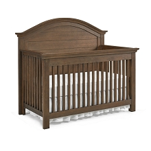 Dolce Babi Lucca Full Panel Convertible Crib, Weathered Brown