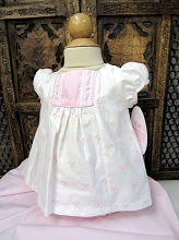 Willbeth Baby Dress 2 Piece White Pink