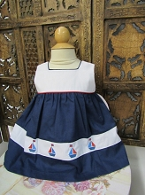Willbeth Sweet Sailor Dress White-Navy