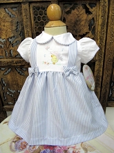Willbeth Yellow Duck Dress Set  White-Blue