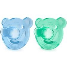 Avent Soothie Shape Pacifier Green-Blue, 2 Pack