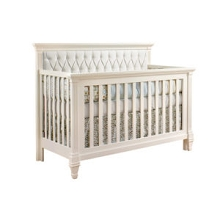 Natart Juvenile Belmont 5-in-1 Convertible Crib with Upholstered Panel