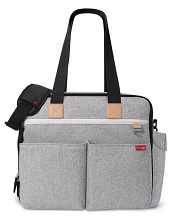 Skip Hop Duo Weekender Diaper Bag Grey Melange