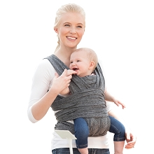 Boppy ComfyFit Baby Carrier Heather Gray