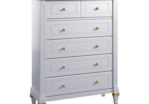 Natart Juvenile Belmont 5 Drawer Dresser White Gold