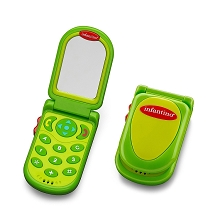 Infantino Flip & Peek Fun Phone Fuchsia Green