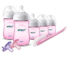 Avent Natural Bottle Pink  Gift Set