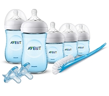 Avent Natural Bottle Blue  Gift Set