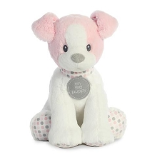Aurora First Puppy Polka Dot Pink 13in