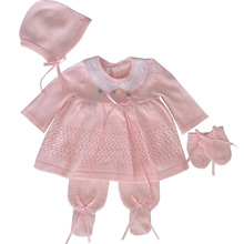 Karela Kids Knitted Set with Bonnet and Mittens Girl